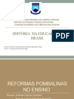 HISTÓRIA  DA EDUCAÇÃO NO BRASIL - PERIODO POMBALINO