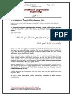 Sunnah-Sunnah Yang Terlupakan (Bag-03)