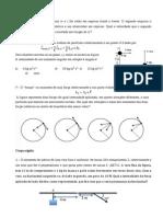 Exercicios de Física I