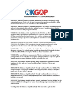 OKGOP Resolution Condemning Stand for Children OK