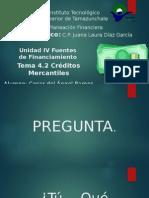 Tema 4.2 - Creditos Mercantiles