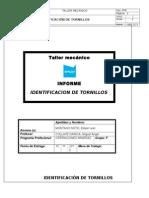 Informe de Identificacion de Tornillos