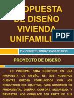Propuesta de Diseño Vivienda Unifamiliar