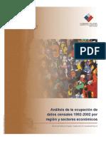 Fuerza Trabajo Por Regiones 1992 2002 Servicio Pais