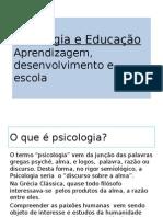 Aula 1 Psicologia Educacao Aprendizagem