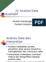 Tajuk 10 Analisis Data Kuanlitatif