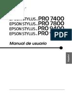 Epson Pro7800 Manual español