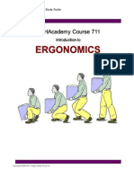 Unit 3 OSHAcademy, Introduction to Ergonomics, Course 711