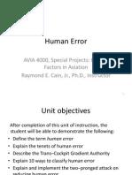 Unit 4 Human Error Presentation
