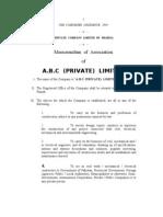 Pattern of Memorandum