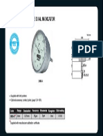 Back Plunger Type Dial Indicator 2893-3