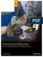 Measuring and Fitting Tools for Professional Belt Replacement by ContiTech