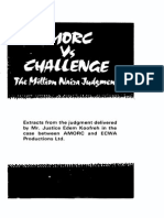 AMORC vs CHALLENGE