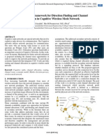 Cost Effective Framework for Direction Finding and Channel  Allocation in Cognitive Wireless Mesh Network