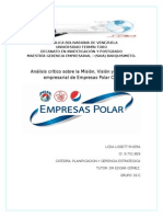 Informe de Planificacion y Gerencia Estrategica. Lissett