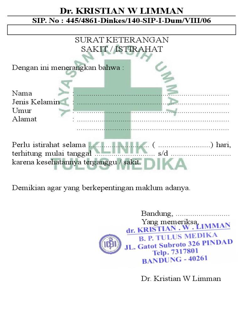 Contoh Surat Dokter Informasi Seputar Dunia Militer Dan