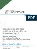 Consideraciones Para Justificar Una Implementacion SharePoint
