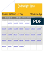 Advanced Daily Flow Calendar
