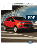 Ford Ecosport Trend 1.5L Ti-VCT Owners Manual