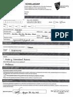 VC Scholarship Form