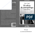 Marc Augé - El Oficio de Antropologo