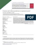 #05a E-business Audit Advisory Jurisdiction or Occupational Invasion