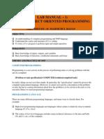 CPP - Lab Manual 1 - Basics of OOP