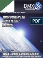 DMX High Power LED Streetlight User Manual Égős Is