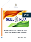 Final Report of Sub-Group Report on Skill Development