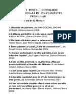 Cărṭi Pentru Consiliere Educaṭională Ȋn Ȋnvăṭămȃntul Preșcolar