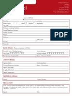 Orbital Umbrella PAYE Application Form