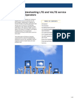 White Paper Troubleshooting LTE and VoLTE Service Issues for Mobile Operators