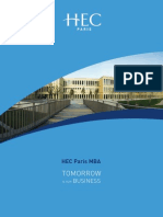 HEC Paris MBA 2015 Brochure