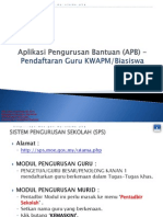 Apb Biasiswa&Kwapm-daftar Guru Di Eoperasi Dan Apdm