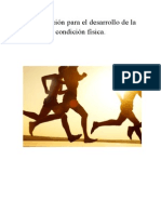 Planificación Para El Desarrollo de La Condición Física