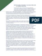 El Derecho Constitucional Peruano y Su Relación Con La Ciencia Politica
