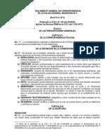 Reglamento General de Correspondencia N° 9