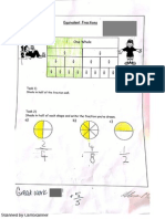 Equivalent Fractions Student Work