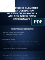 """Romantische Elemente in der Joseph Von Eichendorffs Novelle """"Aus dem Leben eines Taugenichts"""""""