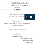 Industrial Training Report on Lead(Pb) Industry