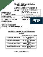 Cronograma Del uigv Semestre 2015-3 Actualizado