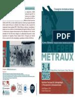"""Coloquio internacional """"Alfred Métraux - Relecturas transatlánticas"""""""
