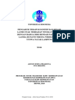 Pengaruh Terapi Kognitif Dan Senam Latih Otak Terhadap Tingkat Depresi Dengan Harga Diri Rendah Pada Klien Lansia Di Panti Tresna Wreda Bakti Yuswa Natar Lampung.pdf