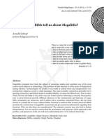 3-Studia Religiologica 45- What Does the Bible Tell Us About Megaliths Lebeuf