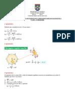 Gabarito - 1ª Lista de Exercícios Complementares de Matemática