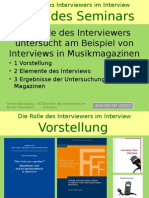 Rolle der InterviewerIn im Interview