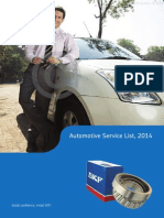 Automotive Service List 2014 Cars & MUV