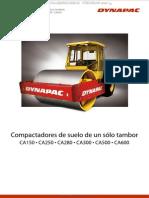 Catalogo Compactadores Suelo Un Tambor Ca150 Aca160 Dynapac