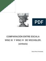 Comparacion Entre Wisc II y Wisc IV PDF