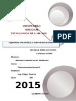Informe Telecomunicaciones OFDM